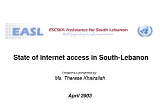 State of Internet access in South-Lebanon