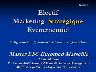 Electif Marketing  Strat gique  Ev nementiel