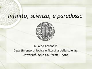 Infinito, scienza, e paradosso