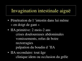 Invagination intestinale aiguë