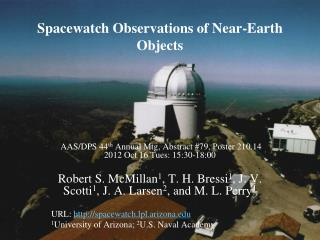 Spacewatch Observations of Near-Earth Objects