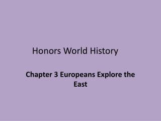 Honors World History