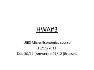 HWA#3