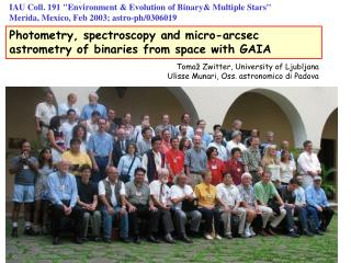 Photometry, spectroscopy and micro-arcsec astrometry of binaries from space with GAIA