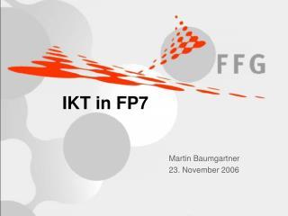 IKT in FP7