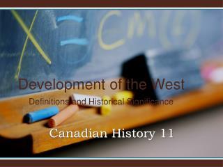 Canadian History 11