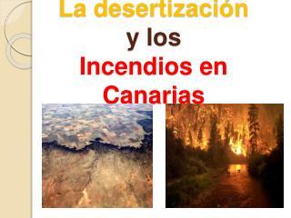 La desertizaci n  y los Incendios en Canarias