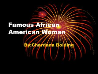 Famous African American Woman