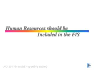 Human Resources should be