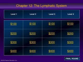 Chapter 12: The Lymphatic System