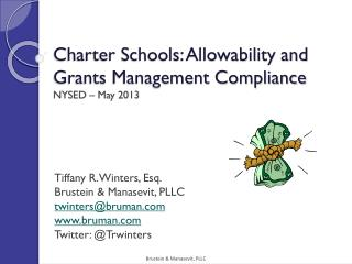 Charter Schools: Allowability and Grants Management Compliance NYSED  – May 2013