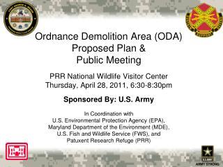 Ordnance Demolition Area (ODA) Public Meeting