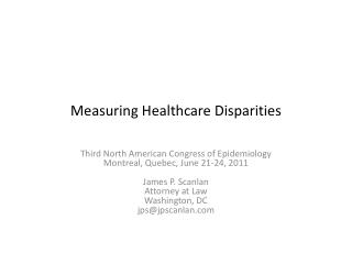 Measuring Healthcare Disparities