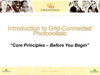 Introduction to Grid-Connected Photovoltaic   Core Principles   Before You Begin