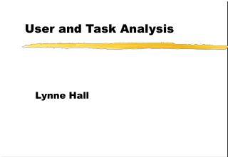 User and Task Analysis