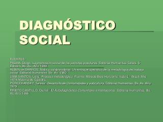 DIAGN STICO SOCIAL