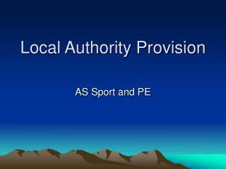 Local Authority Provision