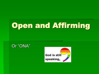 Open and Affirming