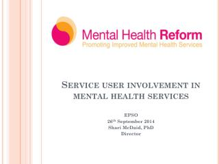 Service user involvement in mental health services