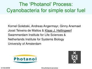 The  Photanol  Process: Cyanobacteria for simple solar fuel