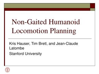 Non-Gaited Humanoid Locomotion Planning