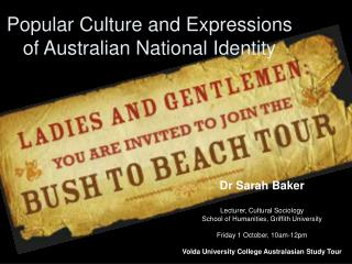 Popular Culture and Expressions of Australian National Identity