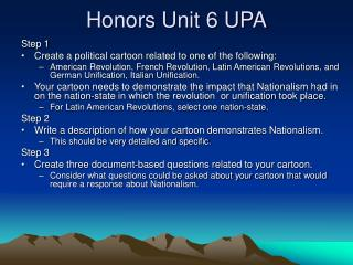 Honors Unit 6 UPA