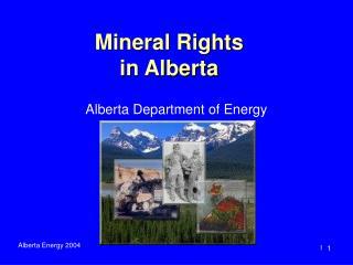 Mineral Rights  in Alberta