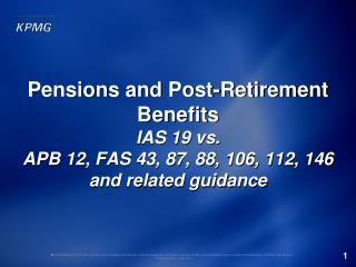 Overview of Accounting for Defined Benefit Plans Under IFRS