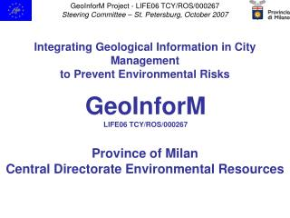 Integrating Geological Information in City Management to Prevent Environmental Risks