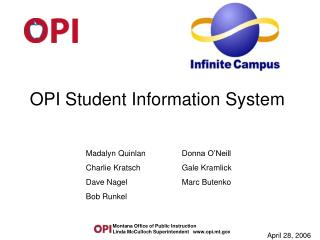 OPI Student Information System