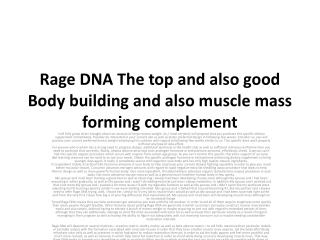 Rage DNA suplement facts and reviews