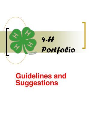 4-H  Portfolio