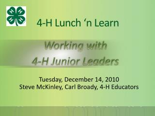 4-H Lunch 'n Learn