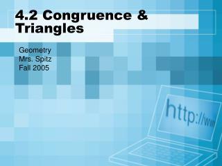 4.2 Congruence & Triangles