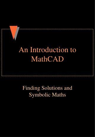 An Introduction to MathCAD