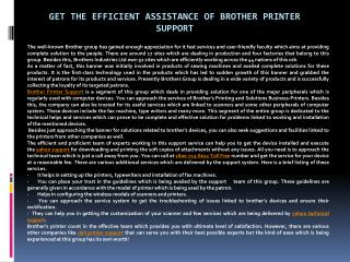Get The Efficient Assistance Of Brother Printer Support