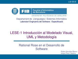 LESE-1 Introducci n al Modelado Visual, UML y Metodolog a