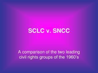 SCLC v. SNCC