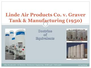 Linde  Air Products Co. v. Graver Tank &  Manufacturing ( 1950)