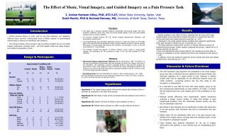 The Effect of Music, Visual Imagery, and Guided Imagery on a Pain Pressure Task  J. Jordan Hamson-Utley, PhD, ATC