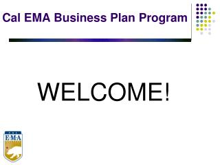 Cal EMA Business Plan Program