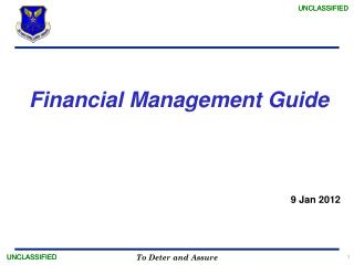 Financial  Management Guide