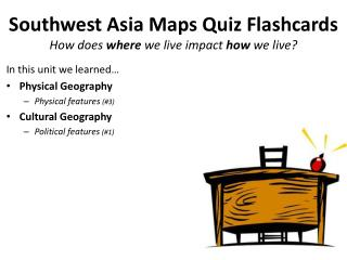 Southwest Asia Maps Quiz Flashcards How does  where  we live impact  how  we live?