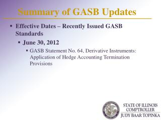 Summary of GASB Updates