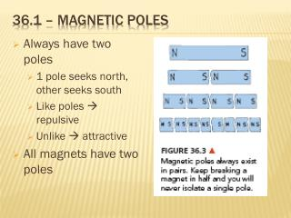 36.1 � magnetic poles