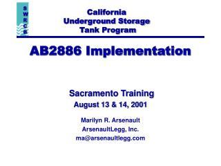 AB2886 Implementation