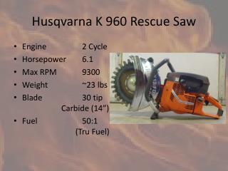 PPT Husqvarna K 960 Rescue Saw PowerPoint Presentation