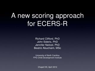 A new scoring approach for ECERS-R