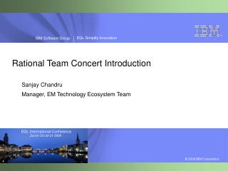 Rational Team Concert Introduction